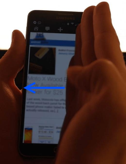 как сделать скрин на самсунге с5