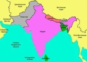 Расположение Бангладеш